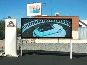 pantalla led p10 exterior smd concesionario vehículos citroen madrid guadalajara