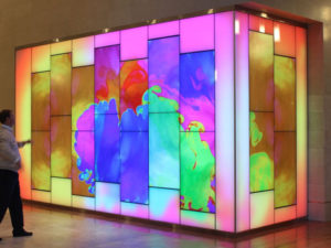 pantalla led interior interactiva 3d con reconocimiento facial